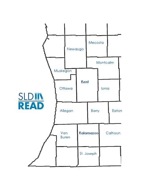 SLD Read Michigan Service Area Map