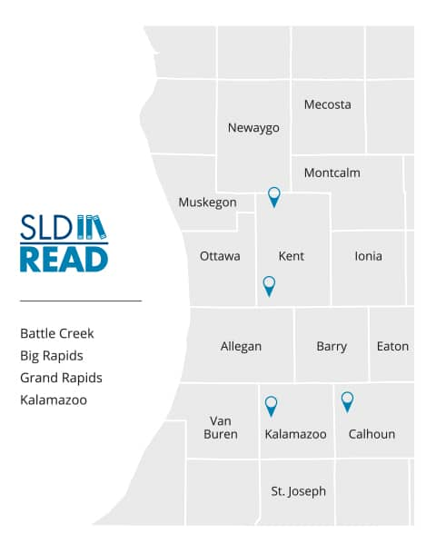 SLD Read Michigan Service Area Map